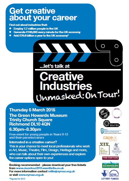 Interested in a creative career? Creative Industries Unmasked in Richmond