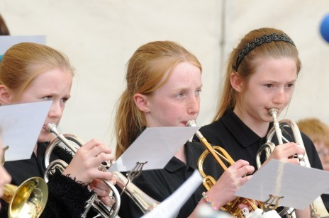 Members of Kirbymoorside Town Junior Band
